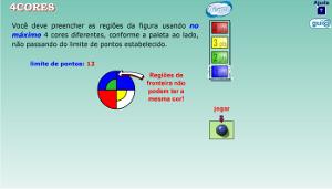 Captura de tela do jogo quatro cores