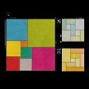 Ilustração do problema dança dos quadrados