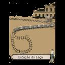 Ilustração do problema pegue o trem no laço.