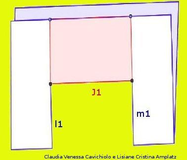 Foto de uma folha de papel com as marcações para obtenção de um cartão fractal por dobradura. Outras imagens do processo de obtenção do cartão fractal estão disponíveis nesta página.