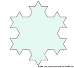 """Etapa da construção da estrutura fractal denominada """"floco de neve de Koch"""". Iteração 2."""