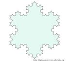 """Etapa da construção da estrutura fractal denominada """"floco de neve de Koch"""". Iteração 3."""