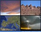 """Esta fotomontagem permite iniciar uma discussão sobre Geometria Fractal. Ela ilustra a famosa citação de Benoit Mandelbrot """"Nuvens não são esferas, montanhas não são cones, os contornos dos litorais não são arcos, a casca do tronco das árvores não é nada plana e nem a luz sequer viaja sobre uma linha reta..."""""""