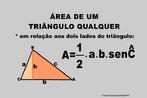 Ilustração contendo os principais elementos para o cálculo da área de um triângulo qualquer em relação a dois lados.