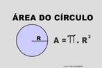 Ilustração contendo os principais elementos para o cálculo do círculo.