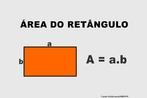 Ilustração contendo os principais elementos para o cálculo da área de um retângulo.