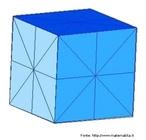 Representação de um cubo e seus planos de simetria.