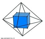 Com esta imagem o Professor pode trabalhar os elementos tanto do cubo como do octaedro, al�m das rela��es poss�veis entre volumes.