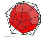 O dodecaedro e o icosaedro s�o poliedros duais: os centros das faces de um dodecaedro s�o os v�rtices de um icosaedro. A rec�proca � igualmente verdadeira.