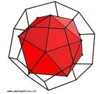 O dodecaedro e o icosaedro são poliedros duais: os centros das faces de um dodecaedro são os vértices de um icosaedro. A recíproca é igualmente verdadeira.