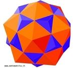 O dodecaedro e o icosaedro s�o poliedros duais: nesta posi��o as arestas do dodecaedro s�o perpendiculares �s arestas do icosaedro nos pontos m�dios. Pode-se igualmente dispor os dois poliedros de modo que os v�rtices do dodecaedro sejam os centros das faces do icosaedro e vice-versa