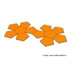 Representação de um dodecaedro planificado.