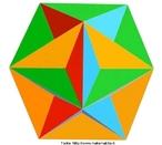 Esta figura é um dos quatro poliedros de Kepler Poisont. Este poliedro é obtido com doze pentágonos, que se encontram cinco a cinco em cada vértice. Observando por seus vértices o poliedro tem a forma de uma pirâmide, cuja base é um pentagrama.