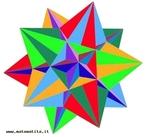 Essa figura também é conhecida como grande icosaedro estrelado e é um dos quatro poliedros de Kepler Poisont. Este poliedro é obtido com vinte triângulos, que se encontram cinco a cinco em cada vértice. Observado por seus vértices o poliedro tem a forma de uma pirâmide, cuja base é um pentagrama.