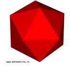 Um icosaedro regular.