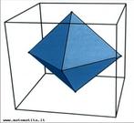 Com esta imagem o Professor pode trabalhar os elementos tanto do cubo como do octaedro, além das relações possíveis entre volumes.