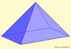 Representação de uma pirâmide de base retangular.