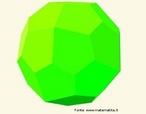 Poliedro dual do poliedro uniforme do tipo (3,3,3,3,4): as faces são os pentágonos semelhantes que se encontram nos vértices em grupos de 3 e de 4.