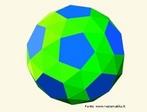 Poliedro dual do poliedro uniforme do tipo (3,3,3,3,5): as faces são os pentágonos semelhantes que se encontram nos vértices em grupos de 3 e de 5.