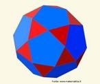 Um poliedro uniforme de tipo (3,5,3,5): em cada vértice encontram-se dos triângulos equiláteros e dois um pentágonos. O poliedro dual é o triacontaedro rômbico.