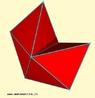 Uma maneira simples de compreender por que há somente cinco poliedros regulares é examinar como os polígonos regulares podem ser dispostos em torno de um vértice de modo que a soma de seus ângulos seja menor do que 360°. Da mesma maneira, para entender quantos polítopos regulares de quatro dimensões existem, pode-se examinar como os poliedros regulares podem ser dispostos em torno de uma aresta de modo que a soma dos ângulos de seus diedros seja menor do que 360°. Aqui nós vemos quatro tetraedros em torno de uma aresta. Esta combinação produz o hyperoctaedro.