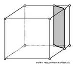 Ao cortar a superfície de um cubo de um modo particular com nessa imagem se obtém um retângulo.