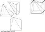 Três partes iguais que podem ser usadas para montar um cubo. A planificação destas peças também está disponível em nosso banco.