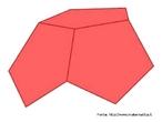 Como se pode justificar o fato dos poliedros regulares serem apenas 5: os pentágonos só se podem usar como faces dispondo-os 3 a 3 (e obtém-se o dodecaedro).  A imagem anterior com os polígonos que formam o poliedro ainda no plano também está disponível neste banco.