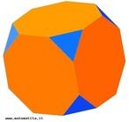 Um poliedro uniforme do tipo (3,8,8): em torno de cada vértice há um triângulo equilátero e dois octágonos regulares.